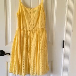 Dresses & Skirts - Yellow eyelet dress